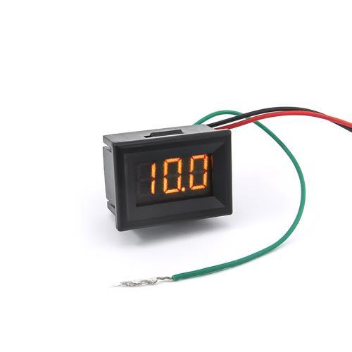 防水型0.36三位元LED電壓錶頭 DC0~100V(黑殼黃光)