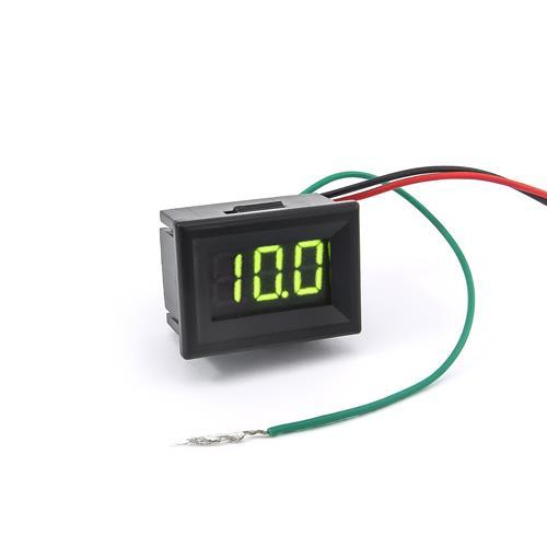 防水型0.36三位元LED電壓錶頭 DC0~100V(黑殼黃綠光)
