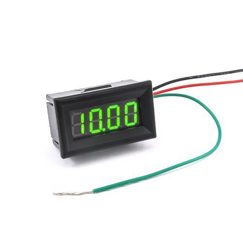防水型0.36四位元 LED電壓錶頭 DC0~33V(黑殼綠光)