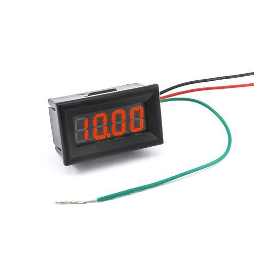 防水型0.36四位元 LED電壓錶頭 DC0~33V(黑殼紅光)