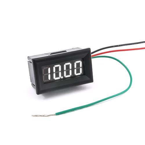 防水型0.36四位元 LED電壓錶頭 DC0~33V(黑殼白光)
