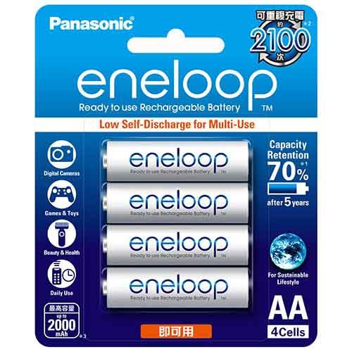 Panasonic 低自放電3號鎳氫充電電池4只裝 BK3MCCE4BTW