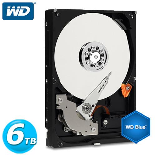WD 藍標 3.5吋 6TB SATA3 內接硬碟(WD60EZRZ)