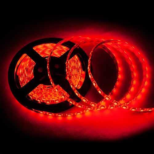 5050 300燈白底扁條燈 5M(紅) (防水型)