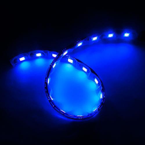 5050黑底扁條燈18燈 30cm藍