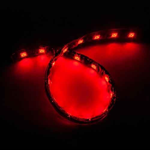 5050黑底扁條燈18燈 30cm紅