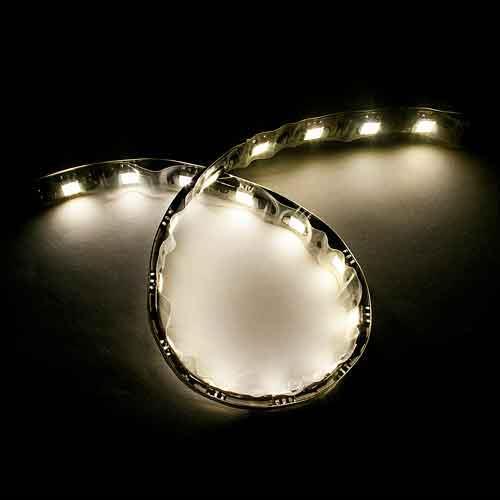 5050黑底扁條燈18燈 30cm暖白