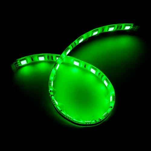 5050白底扁條燈18燈 30cm綠