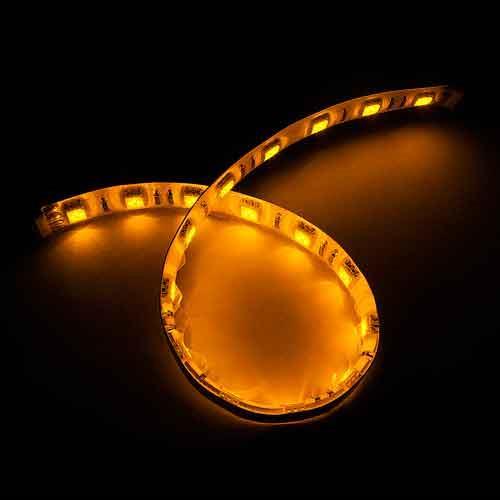 5050白底扁條燈18燈 30cm黃