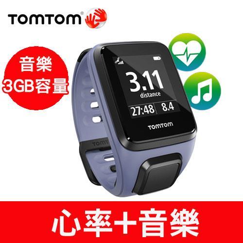 TomTom SPARK 健身錶旗艦款(音樂+心率)(紫色細錶帶)