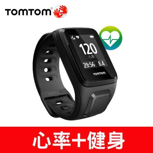 TomTom SPARK 健身錶心率款(黑色細錶帶)