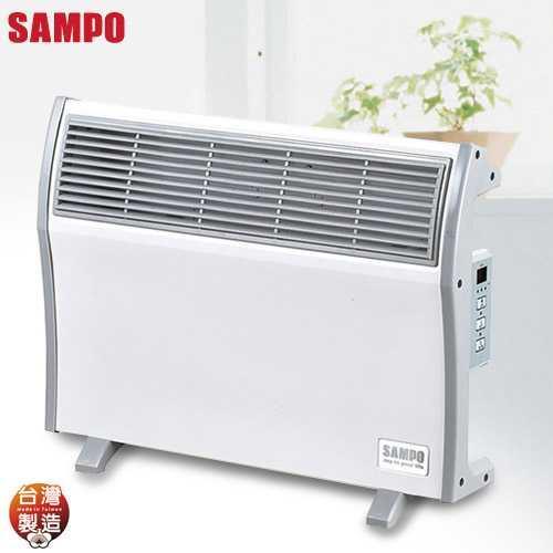 【SAMPO聲寶】浴室/臥房兩用微電腦防潑水電暖器HX-FJ10R