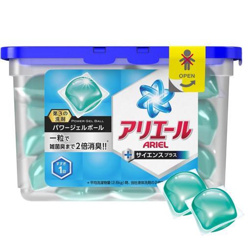 【日本P&G】ariel藍色除臭不沾手雙倍洗衣凝膠球_抗菌除臭 (6盒入)