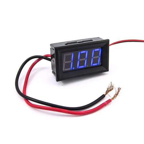 防水型0.56三位元 LED電流錶頭 DC10A(黑殼藍光)