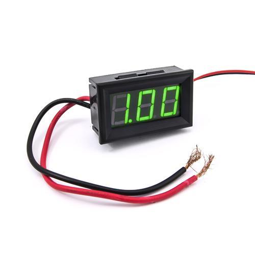 防水型0.56三位元 LED電流錶頭 DC10A(黑殼綠光)