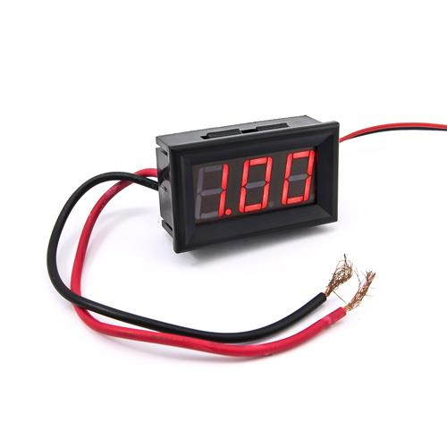 防水型0.56三位元 LED電流錶頭 DC10A(黑殼紅光)