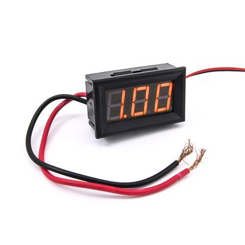 防水型0.56三位元 LED電流錶頭 DC10A(黑殼黃光)