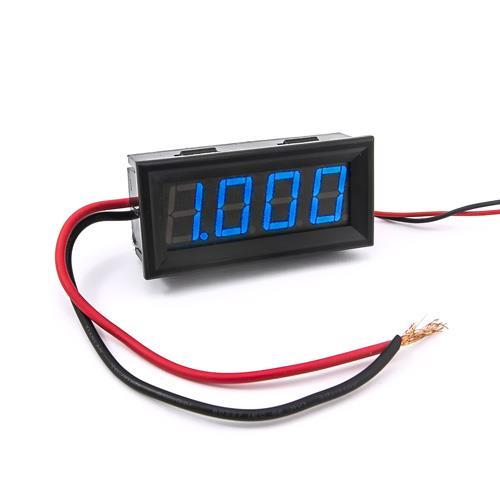 防水型0.56四位元 LED電流錶頭 DC10A(黑殼藍光)
