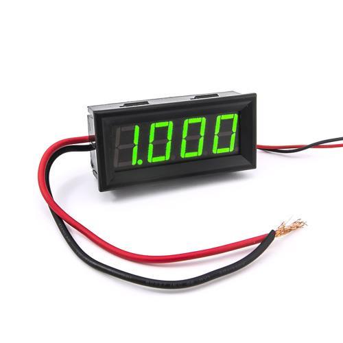 防水型0.56四位元 LED電流錶頭 DC10A(黑殼綠光)