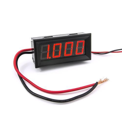 防水型0.56四位元 LED電流錶頭 DC10A(黑殼紅光)