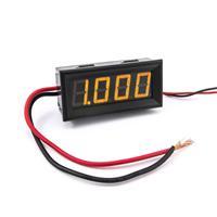 防水型0.56四位元 LED電流錶頭 DC10A(黑殼黃光)