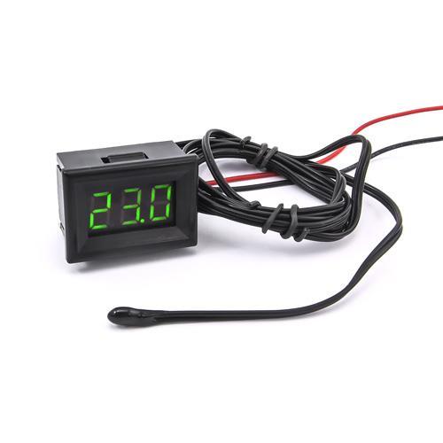 防水型0.36三位元 LED溫度錶頭/熱敏電阻(黑殼綠光)