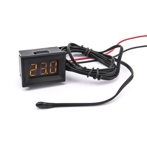 防水型0.36三位元 LED溫度錶頭/熱敏電阻(黑殼黃光)