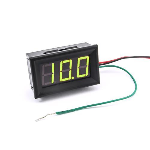 防水型0.56三位元 LED電壓錶頭 DC0~100V(黑殼黃綠光)
