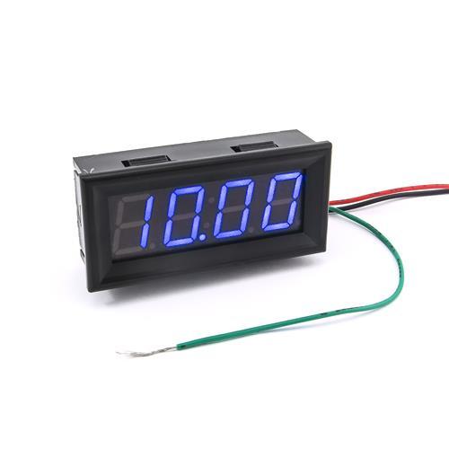 防水型0.56四位元 LED電壓錶頭 DC0~33V(黑殼藍光)