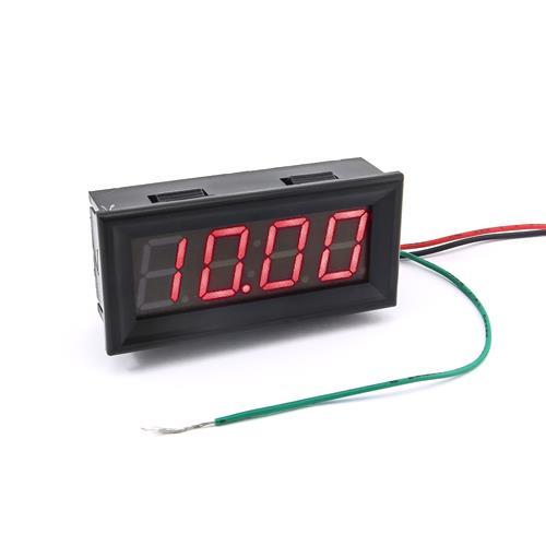 防水型0.56四位元 LED電壓錶頭 DC0~33V(黑殼紅光)