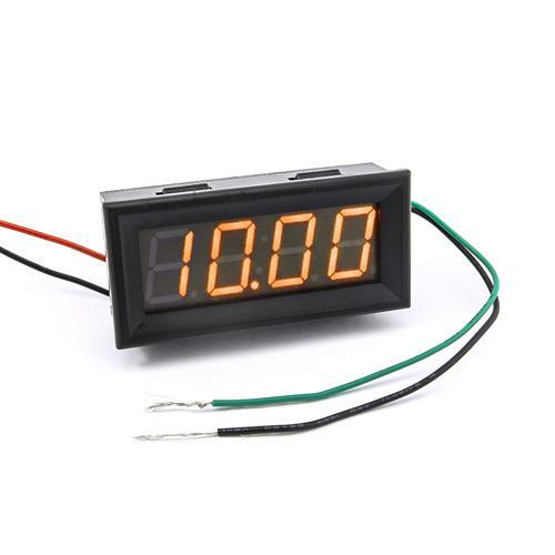 防水型0.56四位元 LED電壓錶頭 AC0~500V(黑殼黃光)