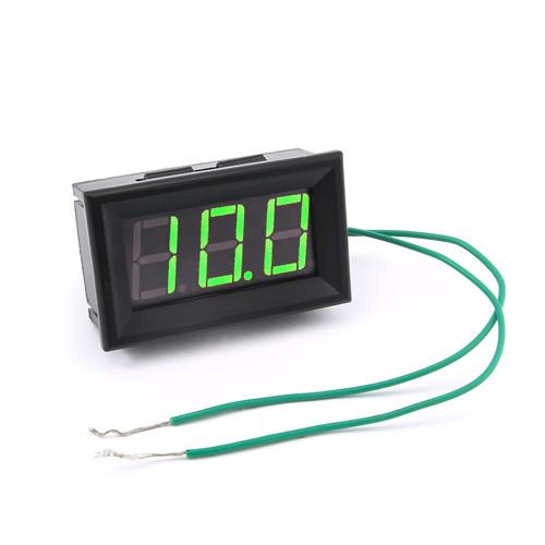 防水型0.56三位元 LED電壓錶頭 AC60~500V(黑殼綠光)