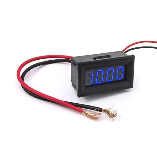 防水型0.36四位元 LED電流錶頭 DC10A(黑殼藍光)