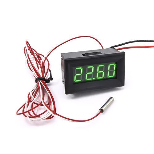 防水型0.36四位元 PT100溫度錶頭(黑殼綠光)