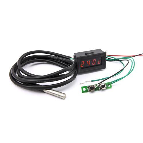 0.30四位元 溫度/時間/電壓三合一LED錶頭(黑殼紅光)