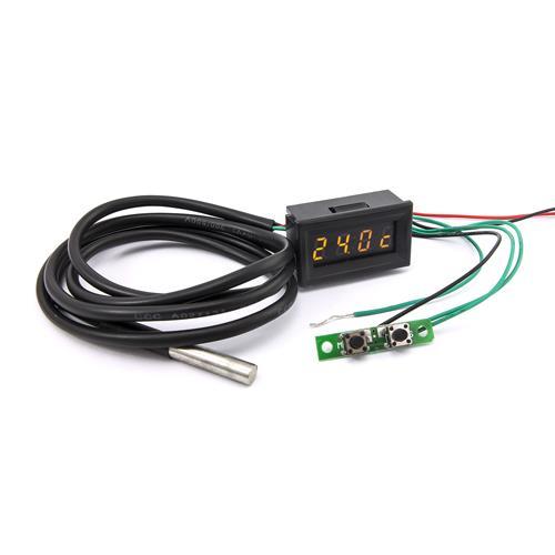 0.30四位元 溫度/時間/電壓三合一LED錶頭(黑殼黃光)