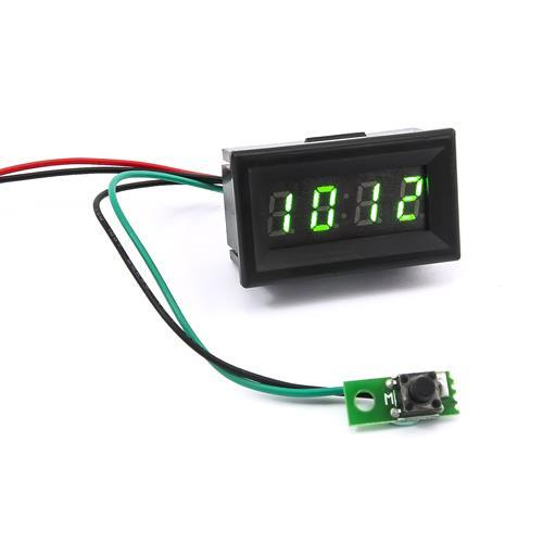 0.30四位元 LED時鐘錶頭(黑殼綠光)