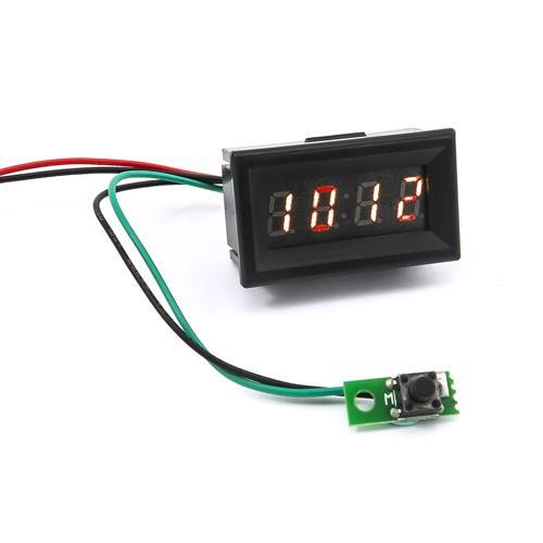 0.30四位元 LED時鐘錶頭(黑殼紅光)