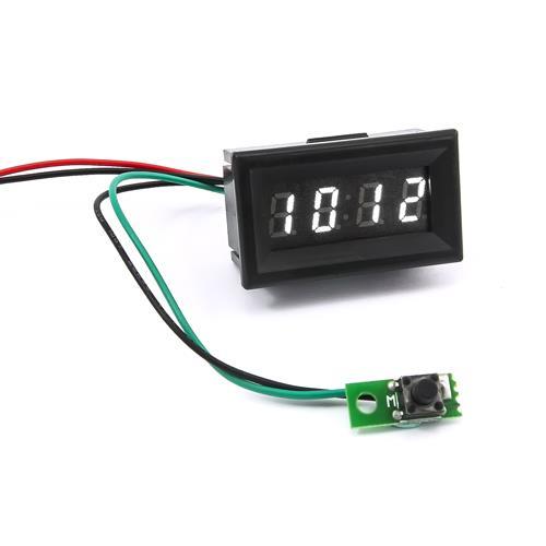 0.30四位元 LED時鐘錶頭(黑殼白光)
