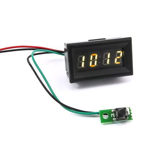 0.30四位元 LED時鐘錶頭(黑殼黃光)