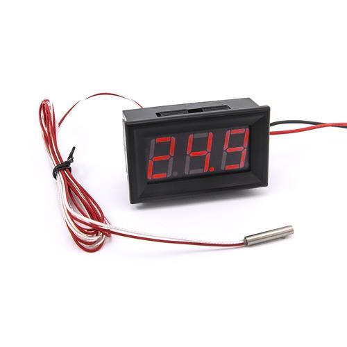 防水型0.56三位元 LED溫度錶頭/PT100(黑殼紅光)