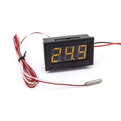 防水型0.56三位元 LED溫度錶頭/PT100(黑殼黃光)