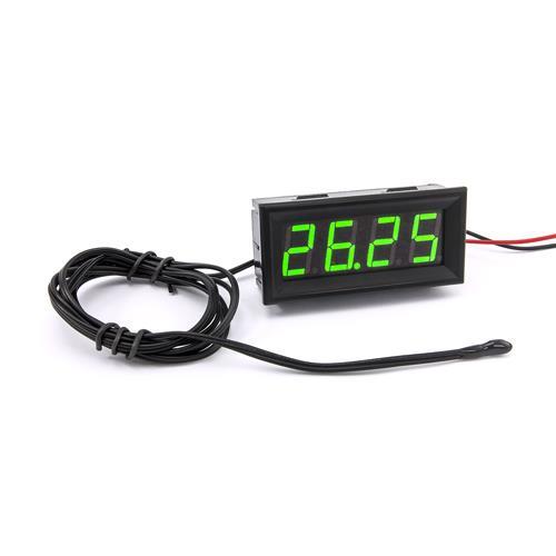 防水型0.56四位元 LED溫度錶頭/熱敏電阻(黑殼綠光)
