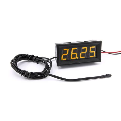 防水型0.56四位元 LED溫度錶頭/熱敏電阻(黑殼黃光)