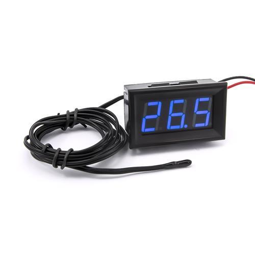 防水型0.56三位元 LED溫度錶頭/熱敏電阻(黑殼藍光)