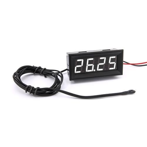 防水型0.56四位元 LED溫度錶頭/熱敏電阻(黑殼白光)