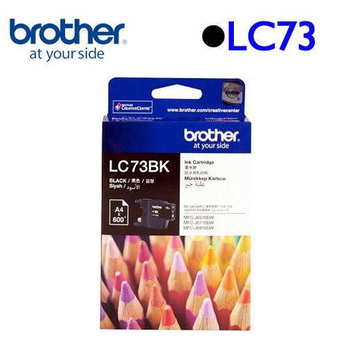 Brother LC73BK 原廠墨水匣 (黑)
