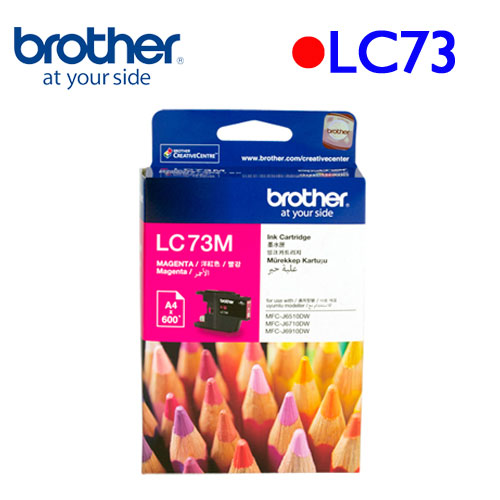 Brother LC73M 原廠墨水匣 (紅)