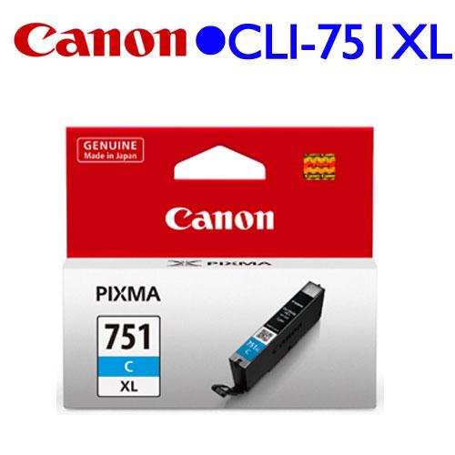 Canon CLI-751C XL原廠高容量墨水匣 (藍)