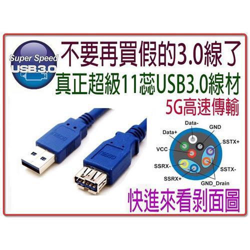 i-wiz USB 3.0 A公-A母高速傳輸延長線 1.8米